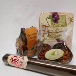 Spezialitäten aus Schokolade